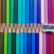 Set of brightly coloured pencils — Stock Photo