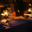Foto Stock: Candlelight dinner