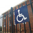 Paraplegic only parking space — Stock Photo
