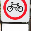 Royalty-Free Stock Photo: Sign with a bicycle in a park