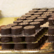 Stock Photo: Chocolate trays in French Patisserie and Chocolaterie