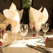 Table setting at a wedding reception  — Stock Photo