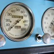 Stock Photo: Blue Chevrolet speedometer