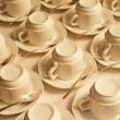 Cups and saucers — Stock Photo