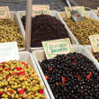 Fresh olives on the open air market — Stock Photo