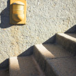 Cement steps in sun and shade — Stock Photo