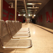 Chairs in a subway station. — Stock Photo