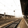 Train station in Neurenburg, Germany. — Stock Photo