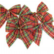 Red Christmas decoration bows — Stock Photo