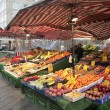 Fruit and vegetables at the market - Stock Photo