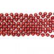 Red Christmas decorative beads — Stock Photo