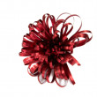 Red Christmas tinsel decoration — Stock Photo