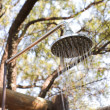 Outdoor shower in the african bush - Stock Photo