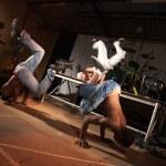 Three hip-hop dancers — Stock Photo