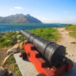 Antique canons standing in their original defense posts of Houtbay in Western Cape, South Africa — Stock Photo #22098951