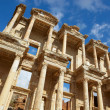 The remains and statues of the enormous Library of Celsus in the city of Ephesus in modern day Turkey — Стоковое фото #22099845