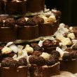 Chocolate truffles as a wedding cake - Stock Photo