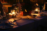 Candlelight dinner — Stockfoto
