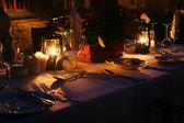 Kolacja przy świecach — Zdjęcie stockowe