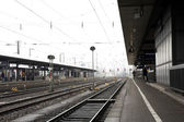 Train station in Neurenburg, Germany. — Stock Photo