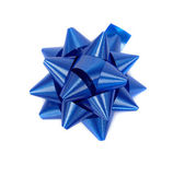Blue Christmas tinsel decoration — Stock Photo