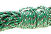 Green nylon rope — Stock Photo