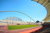 Khalifa sports stadium in Doha, Qatar — Stock Photo