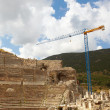 Reconstruction of the remains of the large Amphitheater - Stockfoto