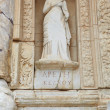 Stock Photo: the remains and statues of the enormous library of celsus in the city of ephesus in modern day turkey