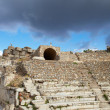 The old ruined small amphitheater of the city of Ephesus in modern day Turkey — Stock Photo