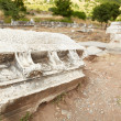 The old ruins of the city of Ephesus in modern day Turkey - Stock Photo
