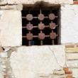 Windows of a house in Antibes, France - 图库照片