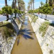 Main water canal running through the tone of Kusadasi in Turkey — Stock Photo