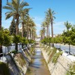 Main water canal running through tone of Kusadasi in Turkey — Stock Photo #22104807