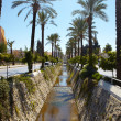 Main water canal running through the tone of Kusadasi in Turkey - Foto Stock