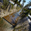 Main water canal running through the tone of Kusadasi in Turkey - 图库照片