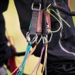 Paraglider harness — Stockfoto