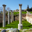 The ruins of the st. Johns Basilica - Stock Photo