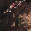 Stock Photo: Bungee jumper