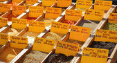 Spices sold at the market in St Raphael, France — Stock Photo
