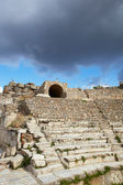 The old ruined small amphitheater of the city of Ephesus in modern day Turkey — Stok fotoğraf