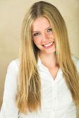Beautiful young adult Caucasian woman — Stock Photo
