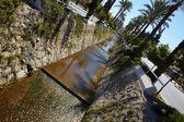 Main water canal running through the tone of Kusadasi in Turkey — Stock Photo