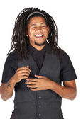 African businessman with long hair — Stock Photo