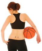 Sexy Girl with Basketball — Stock Photo