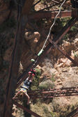 Bungee Jumper at Gouritz River Bridge, South Africa — Stock Photo