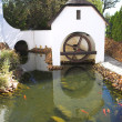 Old watermill next to winery on Plaisir de Merle, South Africa - Stock Photo