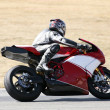 Постер, плакат: High speed Superbike on the circuit