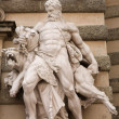 The statues of Hercules — Stock Photo