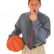Royalty-Free Stock Photo: Basketball trainer